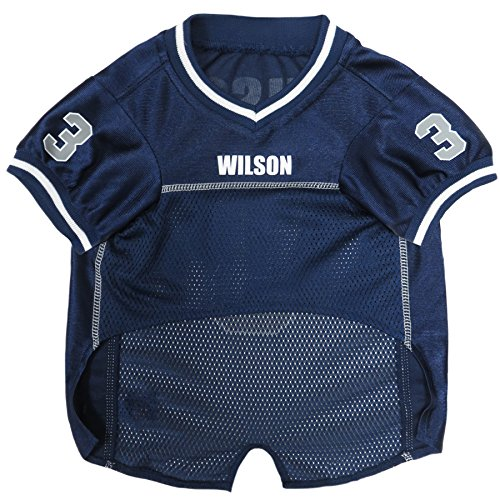 Image of NFLPA Dog Jersey - Russell Wilson #3 Pet Jersey - NFL Seattle Seahawks Mesh Jersey, Small