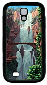 Pixel Waterfall Custom Designer Samsung Galaxy S4 Case and Cover - TPU - Black