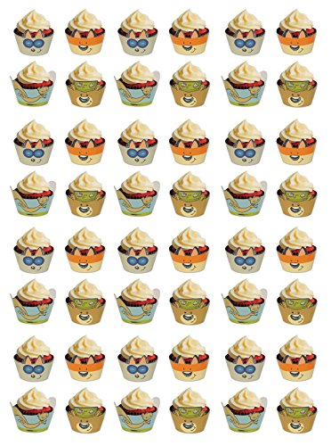 Cup Flat Woodland (Beistle 54775 48 Piece Woodland Friends Cupcake Wrappers, 9.25
