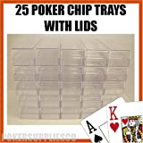 25 Poker Chip Trays with Lids/Covers