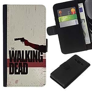 Stuss Case / Funda Carcasa PU de Cuero - Los Zombies que pasear - Samsung Galaxy A3