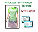 Garbage Disposal Shot Glass Plastic Kitchen Apron Disposable for Cooking,Serving,Painting or Dish washing 30 pc/box , Size 28 x 46 inches by SPICY SERVED