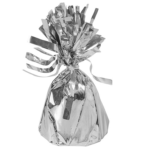 Shindigz Foil Balloon Weights Silver Package of