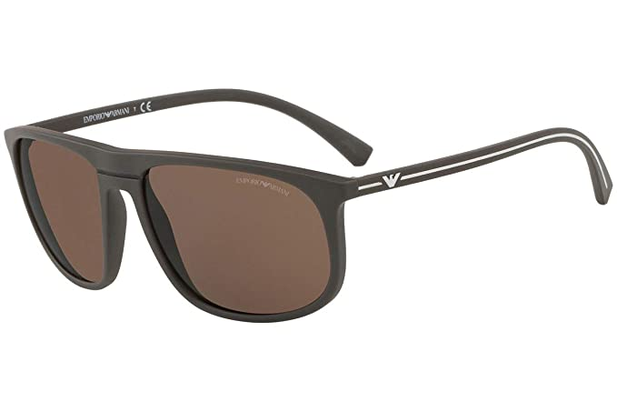 Emporio Armani 0EA4118 Gafas de sol, Mud Rubber, 59 para ...