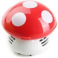 WINOMO Mini Aspirador de Polvo de Limpiador del Escritorio de Diseño de Estampado (rojo)