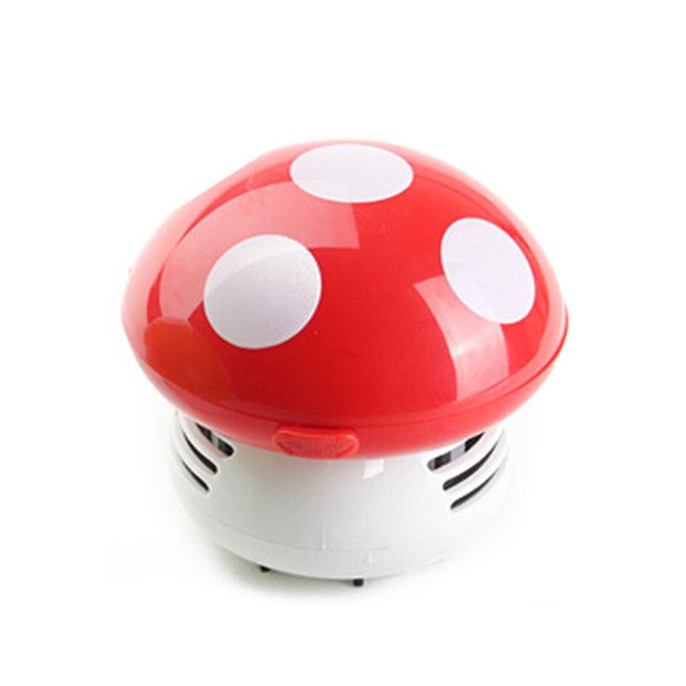 WINOMO Mini Aspirapolvere per Desktop Vuoto Simpatico della Polvere Tavolo Ufficio rosso