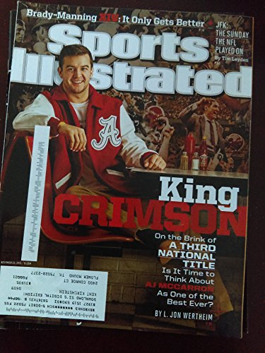 - AJ McCarron - King Crimson - Alabama Crimson Tide - On the Brink of a Third National Title - Sports Illustrated - November 25, 2013 - College Football - SI