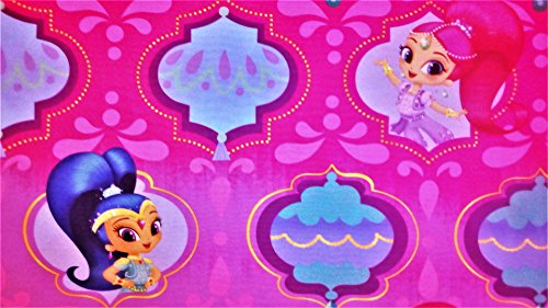 Magic Wonders Shimmer and Shine 100% Polyester (FLAT SHEET ONLY) Size TWIN Girls Kids Bedding