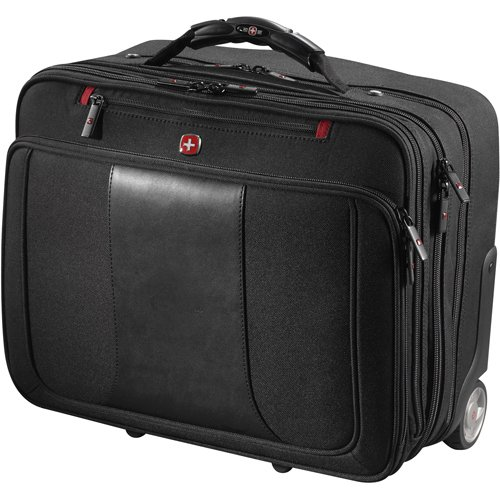 Wenger® Transit Deluxe Wheeled Rolling 17'' Computer Case - Black by Wenger