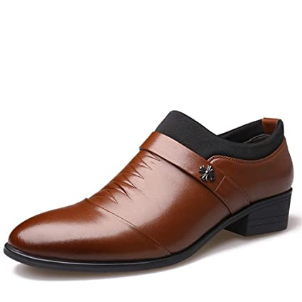 3a48ee121302e Amazon.com: Exing Men's Shoes, Leather Men Formal Shoes for Wedding ...