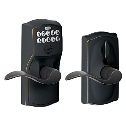 db04d803ac2 Schlage FE595 CAM 716 ACC Camelot Keypad Entry with Flex-Lock and Accent  Levers