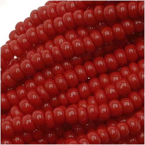 e 11/0 Dark Red Opaque (1 Hank/4000 Beads) ()