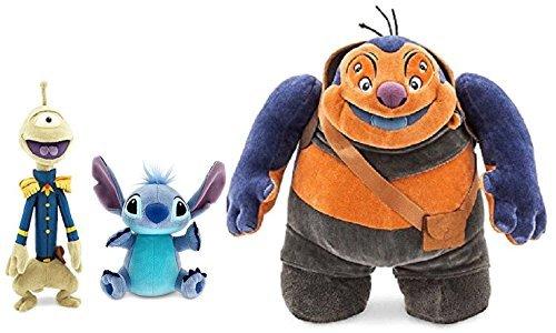 Disney Jumba, Pleakley, and Stitch Plush Three Piece Set Alien Experiments Lilo Stitch