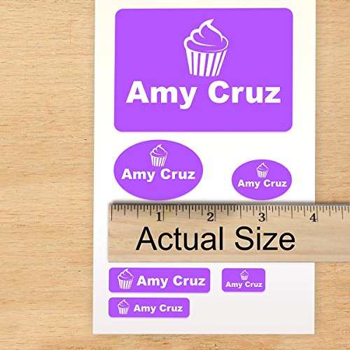 School Pack Custom Labels Self Adehesive PVC Stickers (140 Labels) for Camp or School, Dishwasher Safe - GREAT FOR CLOTHES - Machine Washable Choose custom COLOR, TEXT and ICONs