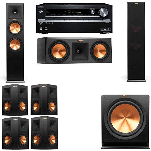 Klipsch RP-280F Tower Speakers-RP-250C-7.1-Onkyo TX-NR838