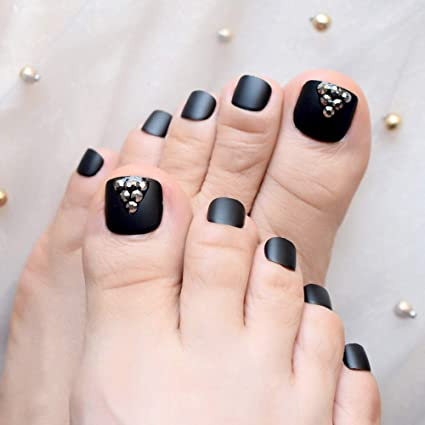 EchiQ - Adhesivo para uñas postizas de los pies, color negro ...