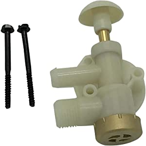 Beech Lane RV Upgraded Toilet Water Valve Assembly 385314349 for Dometic Sealand EcoVac Vacuflush Pedal Flush Toilets (Natural)