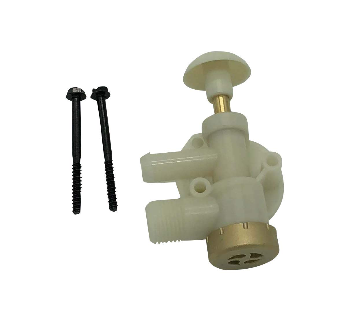 Beech Lane RV Upgraded Toilet Water Valve Assembly 385314349 for Dometic Sealand EcoVac Vacuflush Pedal Flush Toilets, Compare to Dometic 385314349, Leak Free Brass Cap, Works in Freezing Conditions by Beech Lane