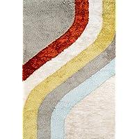 Novogratz Retro Collection Classic Shag Area Rug, 20 x 30, Multicolor