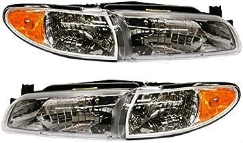 1997-2003 Pontiac Grand Prix Driver Left Side Headlight Lamp Assembly