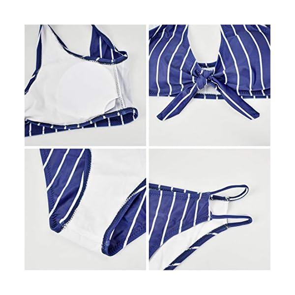 heekpek Donna Costume da Bagno Push Up Imbottito Reggiseno Bikini Donna Due Pezzi Swimwear Abiti da Spiaggia