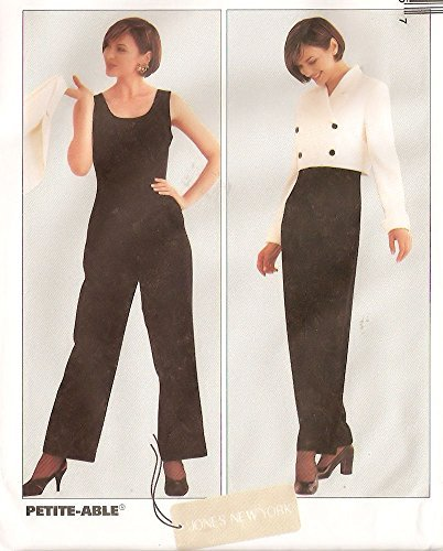 - McCall's sewing pattern 8547 designer jumpsuit and cropped jacket - Size 8-10-12