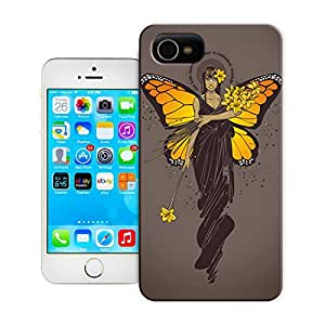 Monarch with butterflies wing on brown background durable top iphone 5/5s protection shell for sale by LeTian Case