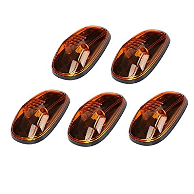 AEagle Cab Roof Top Marker Lights Lamp for 1999-2002 Dodge Ram (Pack of 5) (Amber T10): Automotive