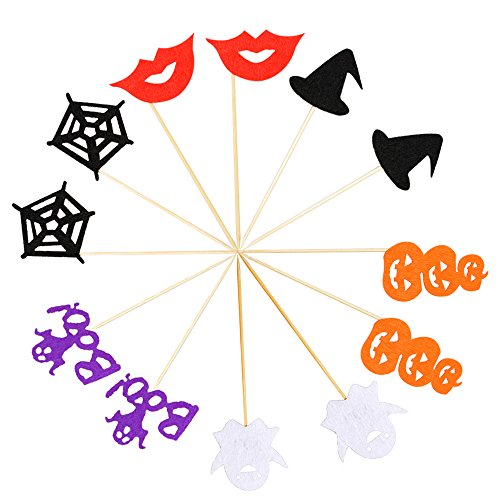 Halloween Cupcake Toppers, Pumpkin Cake Decor for Halloween Party (set of (Twelve Cupcakes Halloween)
