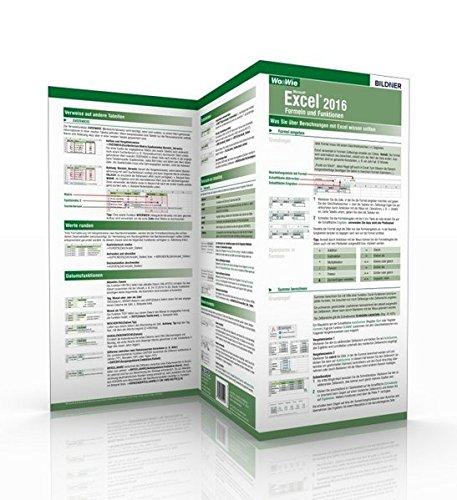 Excel 2016   Formeln Und Funktionen  Die Schnelle Hilfe