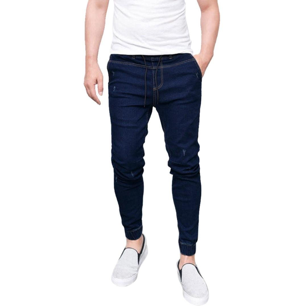 Men's Clothing 2019 Men Cotton Straight Classic Jeans Spring Autumn Male Denim Pants Overalls Designer Men Jeans High Quality Size