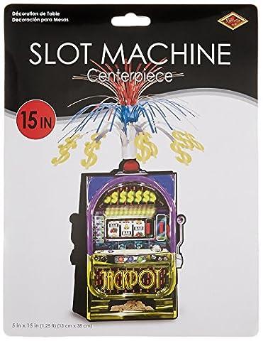 Slot Machine Centerpiece Party Accessory (1 count) (1/Pkg) - Party Machine