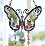 #8: Mom Butterfly Mother Suncatcher with Pressed Flower Wings - Butterfly Suncatcher - Mom Gifts - Gifts for Mom - Gifts for Mothers