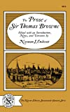 Prose of Sir Thomas Browne, Browne, Thomas, 0393006190