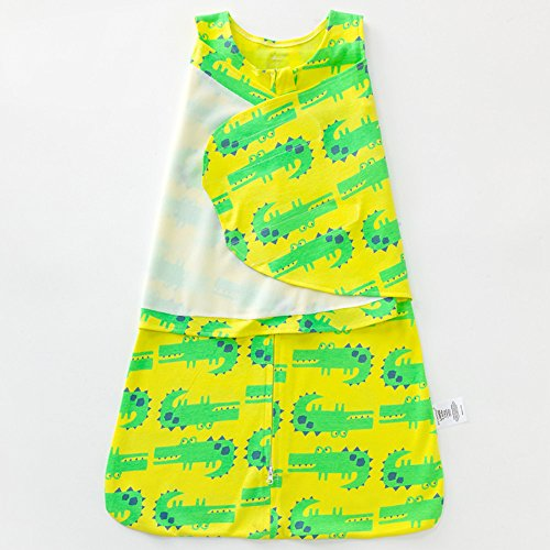 EsTong SleepSack 100% Cotton Nest Soft Wrap Baby Swaddle Wearable Blanket Green crocodile 0-3 - Way Car Of Out A A Scratch Get To Best