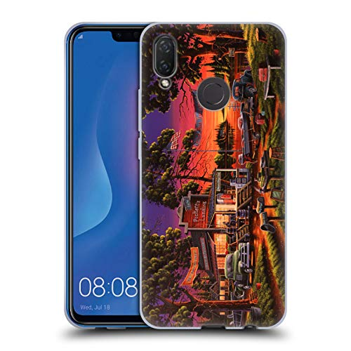 Official Geno Peoples Art Small Town Bass Tournament Halloween Soft Gel Case for Huawei P Smart Plus/Nova 3i