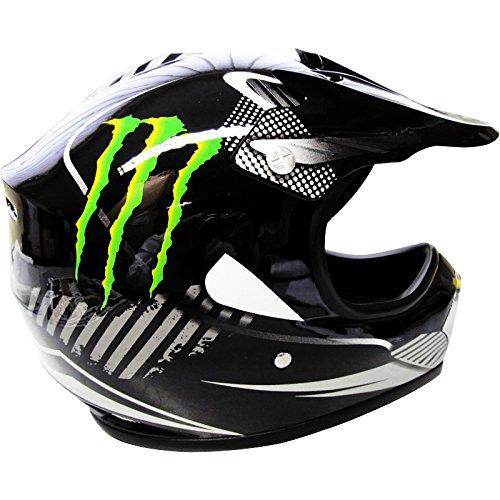 Amazon.es: Leopardo leox18 Monster Kids suciedad bicicleta BMX motocicleta Motocross MX casco + guantes + gafas