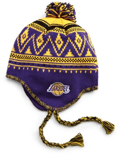 (NBA Tassel Knit Hat - Ke80Z, Los Angeles Lakers, One Size, Purple/gold/black , Los Angeles Lakers , Purple/Gold/Black)