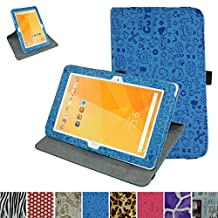 "Acer Iconia One 10 B3-A20 Rotating Case,Mama Mouth 360 Degree Rotary Stand With Cute Lovely Pattern Cover For 10.1"" Acer Iconia One 10 B3-A20 Android Tablet,Blue"