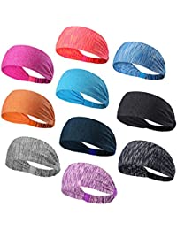 Headbands Head Wrap & Sports Wicking Stretchy Sweatband For Running, Crossfit, Yoga, Cycling, Working Out And...