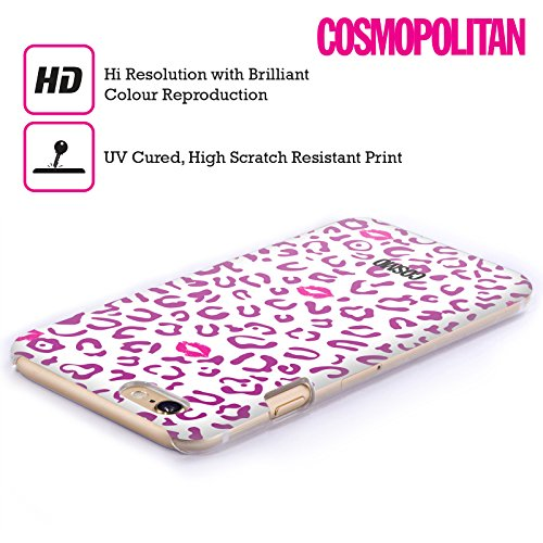 Official Cosmopolitan Violet And White Sassy Leopard Hard Back Case for Apple iPhone 4 / 4S