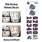 dfd92e7b (HCW) Colorado Avalanche SportsStar NHL Hockey Helmet Decals Sticker Sheet