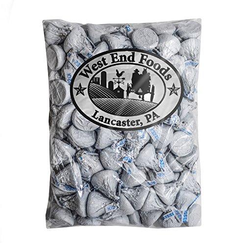 Bulk Milk Chocolate Hershey Kisses White Foils