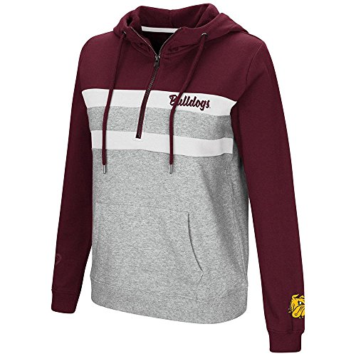 Colosseum Womens Minnesota Duluth Bulldogs Quarter Zip Pull-over Hoodie - M (Duluth Bulldogs Jersey)