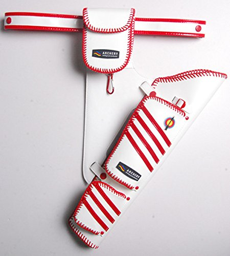 YOUYI leather quiver S09 (white with red)