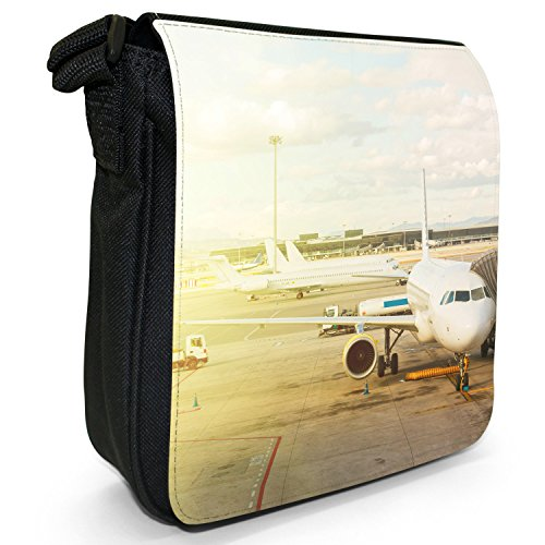 Planes For Size Getting Shoulder Airplanes Small Departure Bag Aeroplanes Black Ready Canvas rvqS7Wrgw