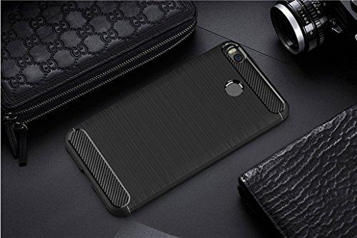 Funda Xiaomi Max 2,Funda Fibra de carbono Alta Calidad Anti-Rasguño y Resistente Huellas Dactilares Totalmente Protectora Caso de Cuero Cover Case Adecuado para el Xiaomi Max 2 A