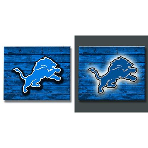 Team Sports America 6WLT3810 Detroit Lions Lit Wall (Detroit Lions Sign)