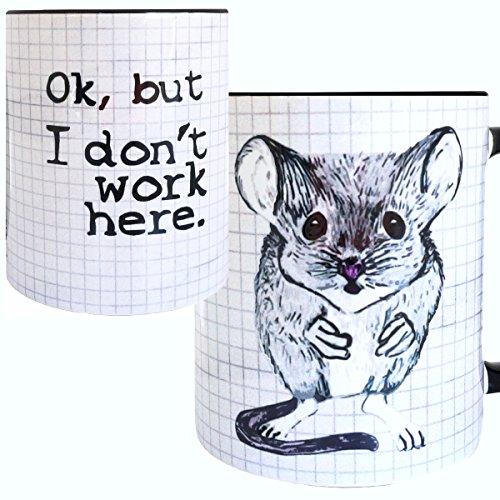 Gerbil Work Mug by Pithitude - One Single 11oz. Black Coffee Cup