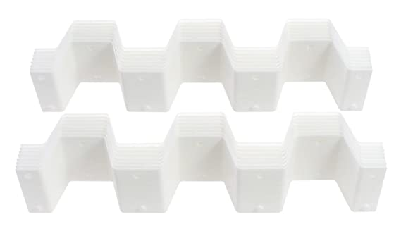 Amazon.com: Versatile Plastic Modular Honeycomb Drawer / Storage Organizer, 8 Pieces Per Set, Two Sets, White: Home & Kitchen